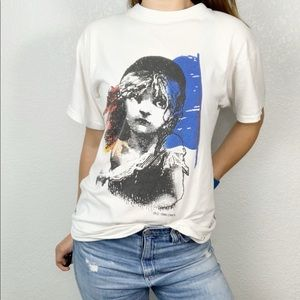 Vintage London Les Miserables Shirt 1986